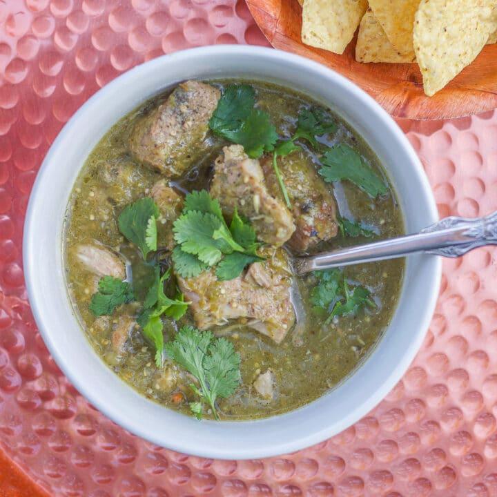 chili verde bowl