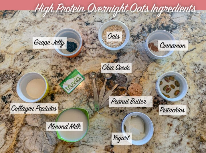 protein overnight oats ingredients