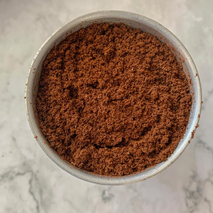 ground coffee for iced latte