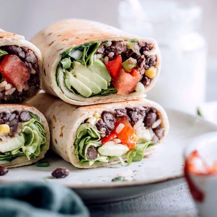 Cinco De Mayo Recipes vegan burrito