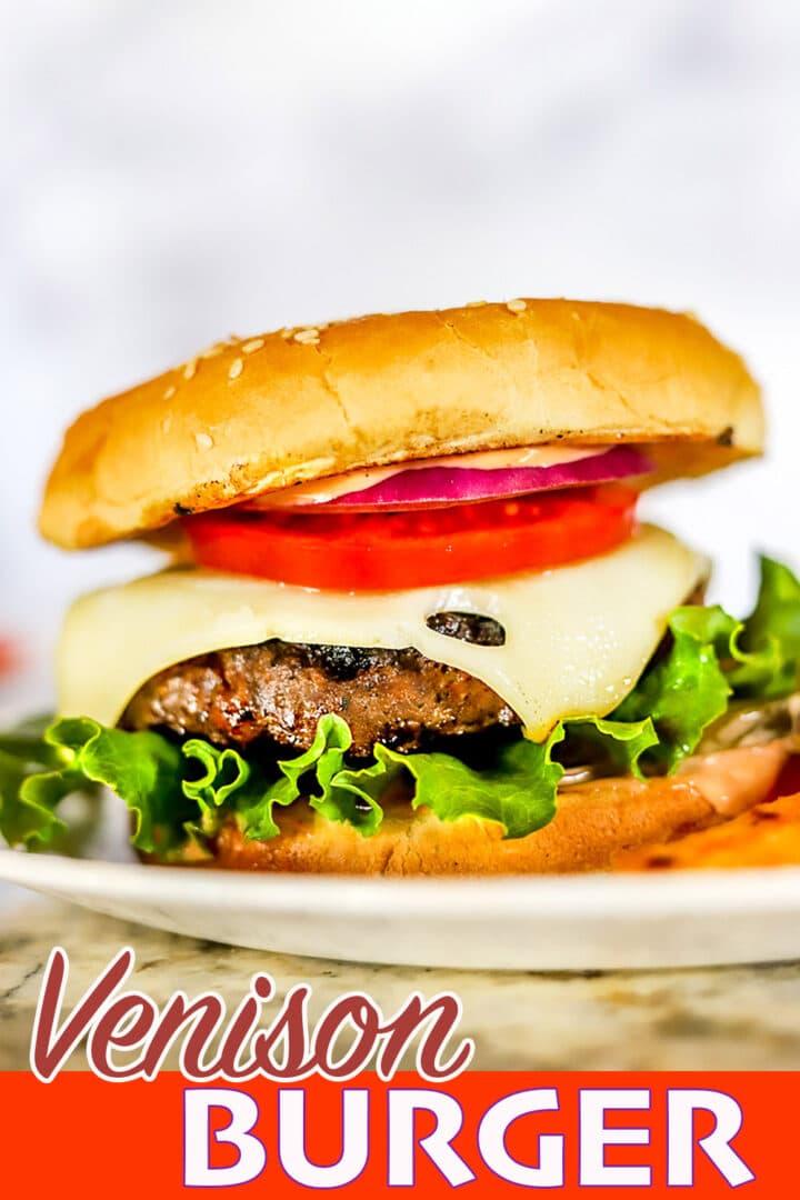 venison burger pin