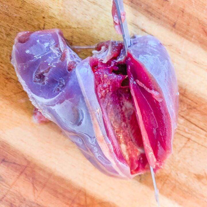 slicing dove breast