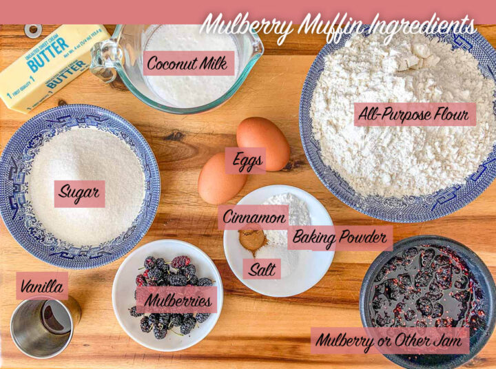 mulberry muffins ingredients