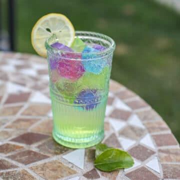 limoncello spritz on a table outside