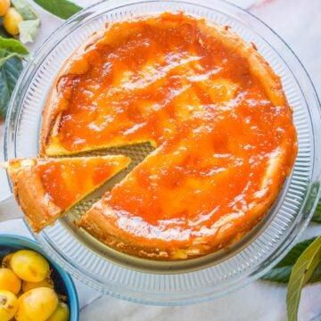 loquat cheesecake