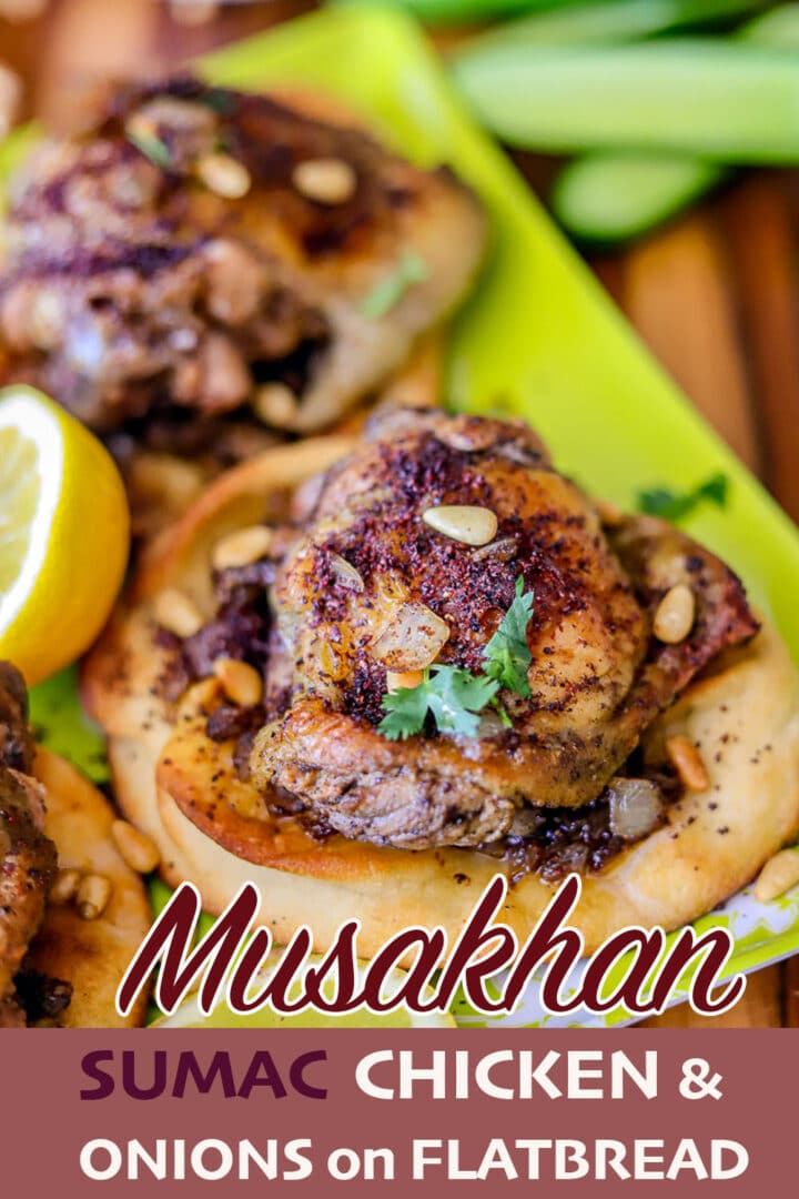 musakhan pin (chicken on flatbread)