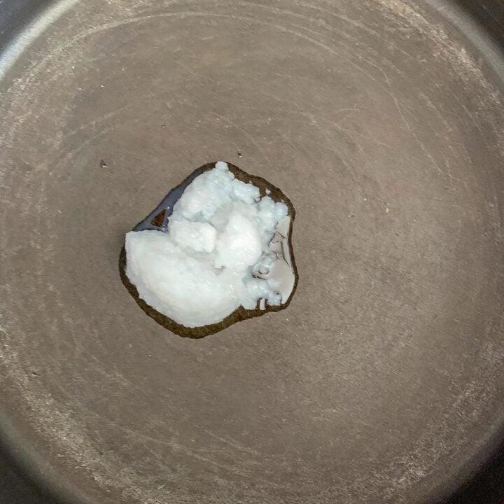 coconut oil melting in a pot