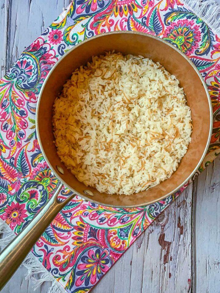 vermicelli rice in a pot