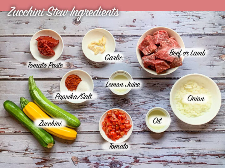 labeled zucchini stew ingredients