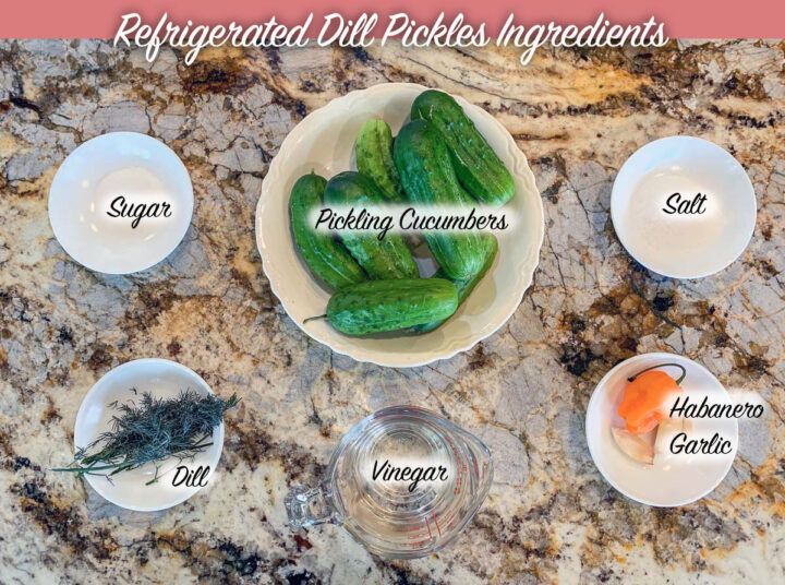 recipe ingredients labeled