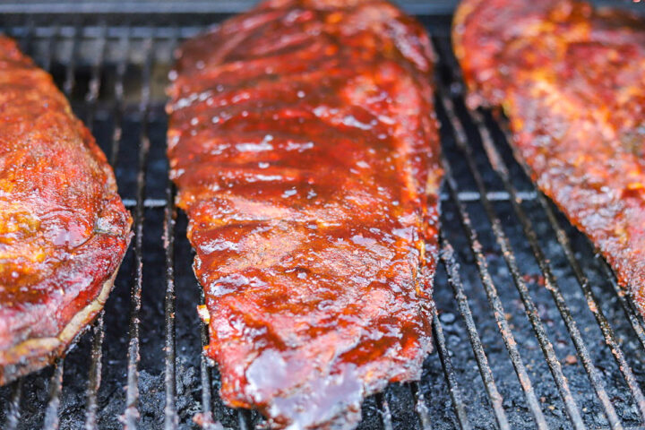 Traeger smoked Ribs on the grill