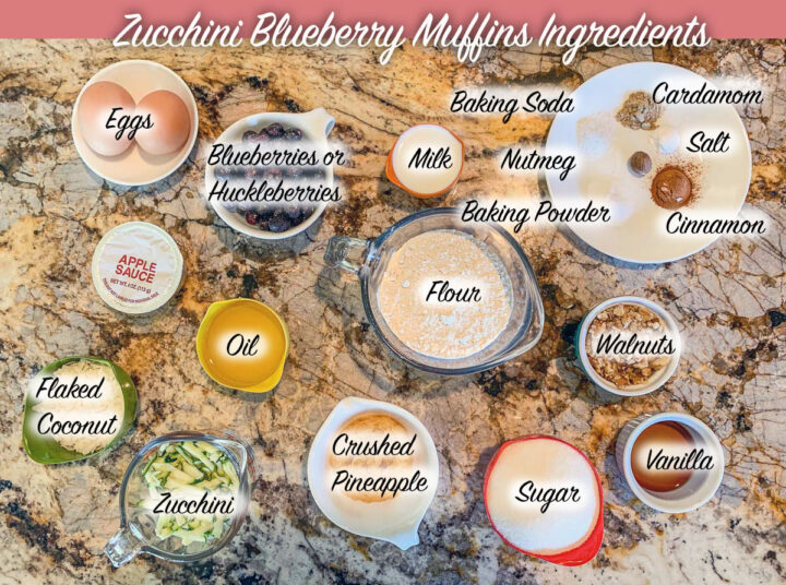 labeled recipe ingredient notes