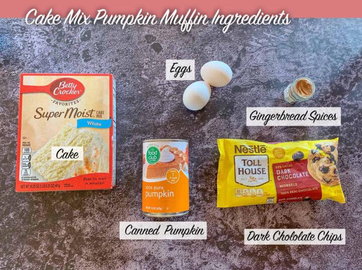 cake mix pumpkin muffin ingredients